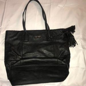 Black Leather Nine West Tote